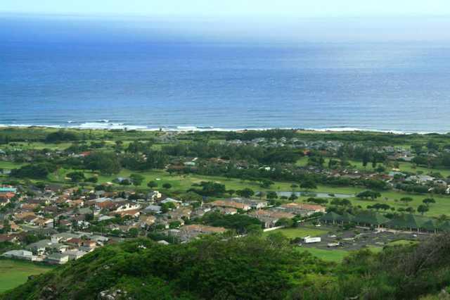 Aerial view of Hawaii Kai Executive Golf Course