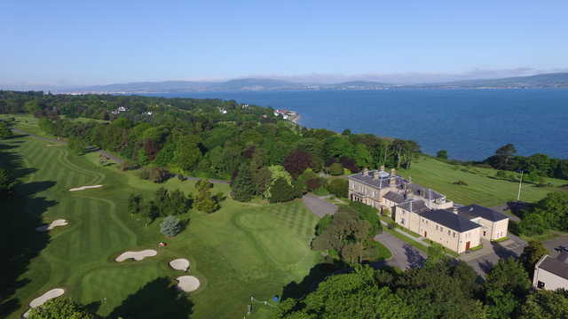 Aerial view from The Royal Belfast Golf Club