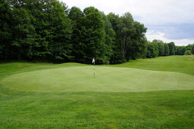A view of hole #15 at Brattleboro Country Club