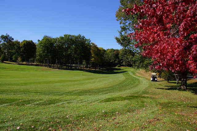 A view of fairway #9 at Brattleboro Country Club