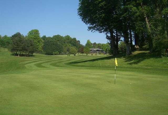 View of the 1st green at Dunmurry Golf Club