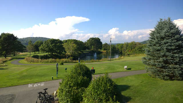 A view of a tee at Rockland Golf Club