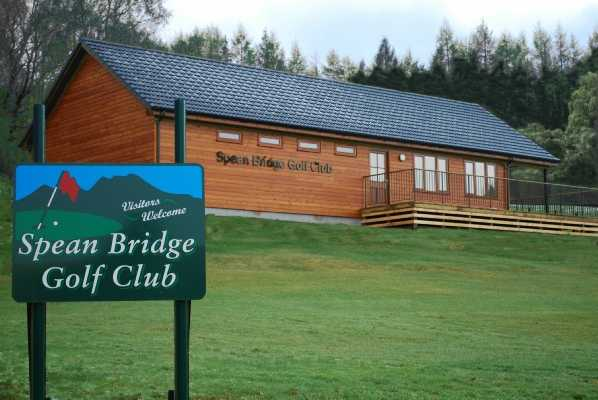 View of the clubhouse at Spean Bridge Golf Club