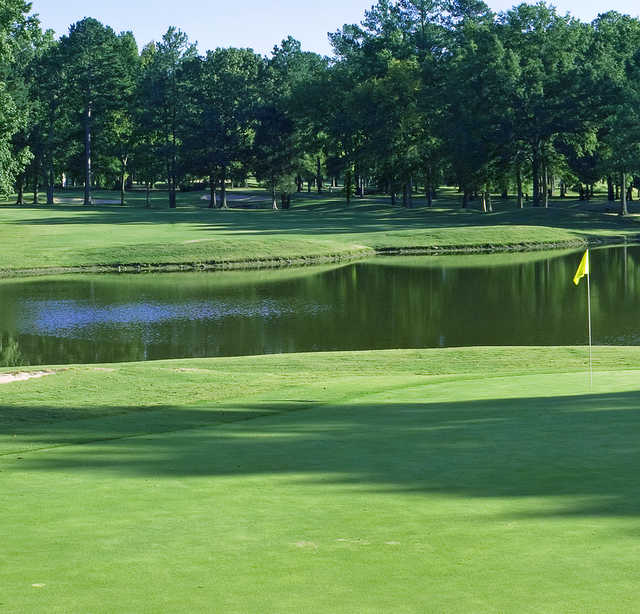 A view of a hole at Chester Golf Club