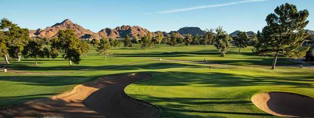 View of the 16th green at Adobe Course at Arizona Biltmore Golf Club