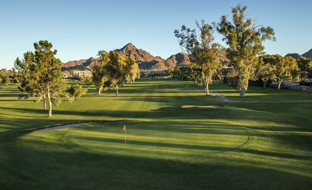 Looking back from the 1th green at Adobe Course at Arizona Biltmore Golf Club