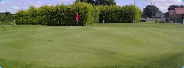 Well maintained green on Thorpe Park GC
