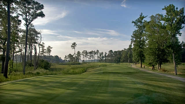 The par-3 3rd hole at Bayside Resort Golf Club plays for 227 yards from the tips