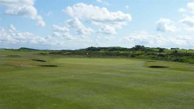 View of a green at Maryport Golf Club
