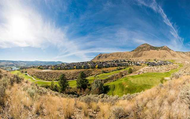 A view from a hole at Bighorn Golf & Country Club