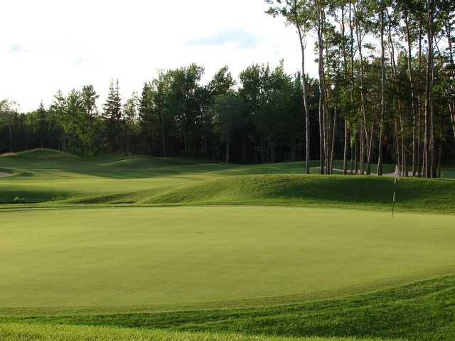 A view of a green at Fox Creek Golf Club