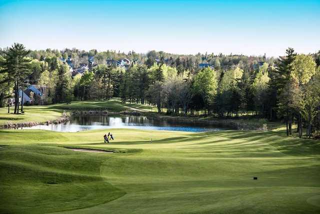 A view from a fairway at Fox Creek Golf Club