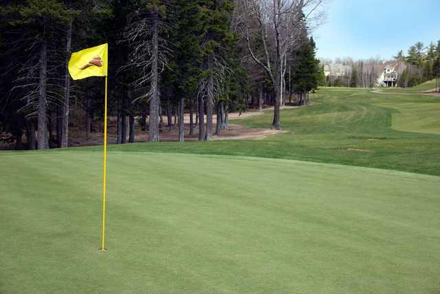 A view of a hole at Fox Creek Golf Club