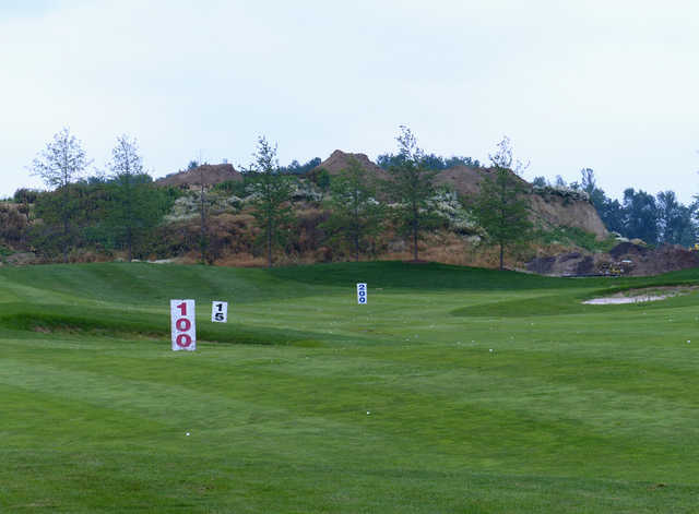 A view of the driving range at Willow Valley Golf Course