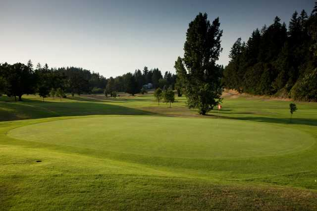 A view of a green at Laurelwood Golf Course