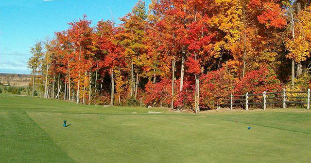 A fall day view from a tee at Glengarry Golf and Country Club