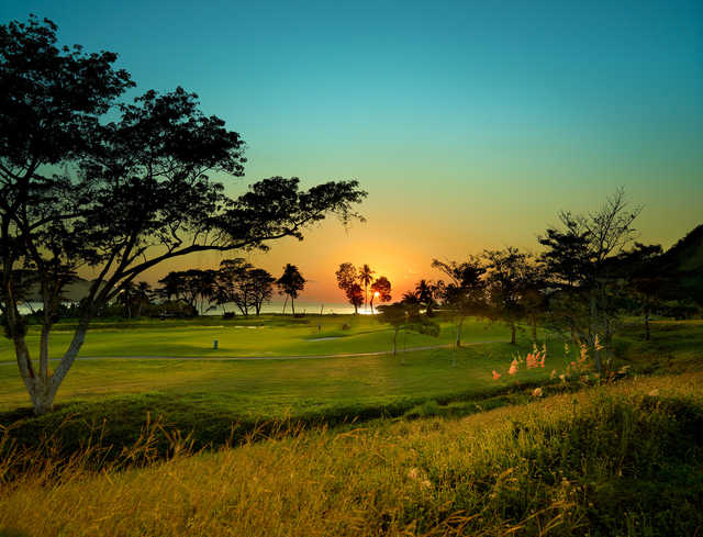 View of a green at La Iguana Golf Course