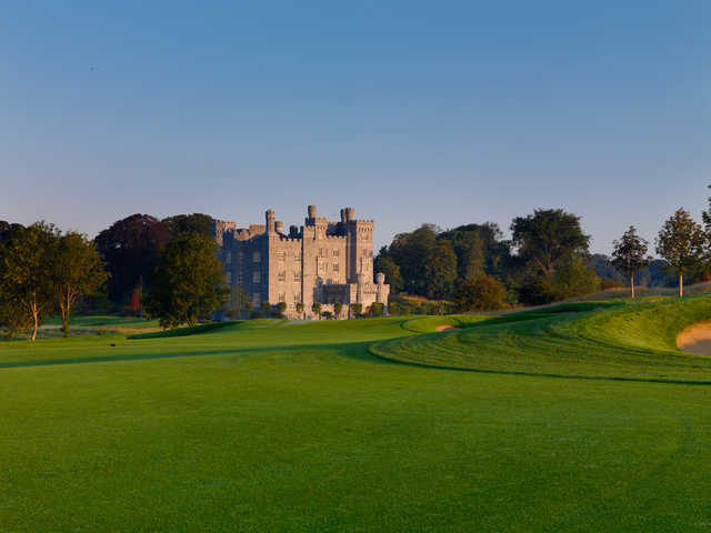 View of the castle and the 3rd hole at Killeen Castle Golf Club