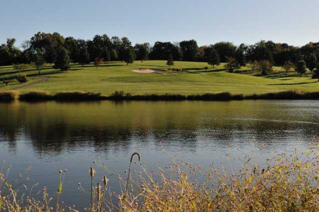 A view over the water from Spring Hollow Golf Course