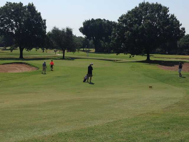 A view of hole #7 from Old at Firewheel Golf Park