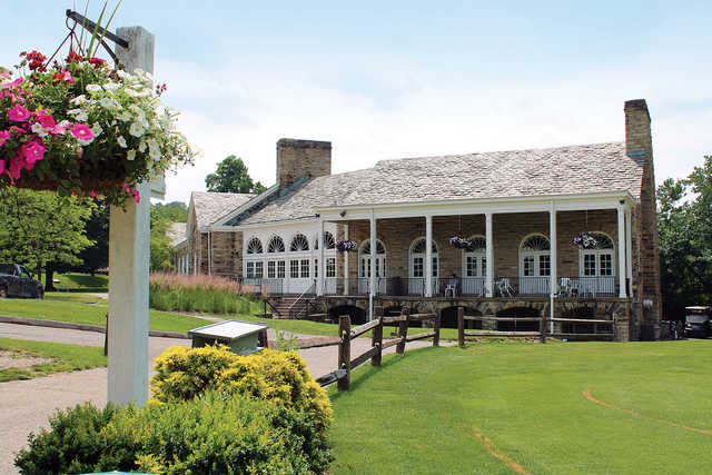 A view of the clubhouse at Crispin Course from Oglebay Resort
