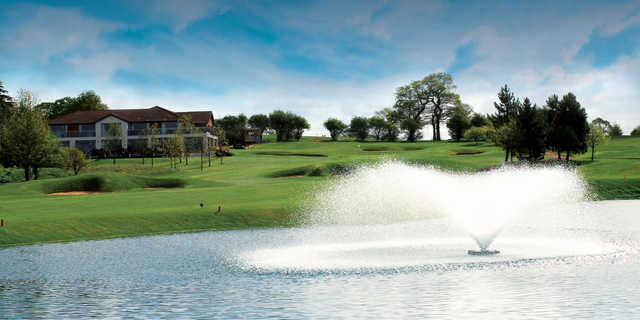 A view of a tee at Championship Course from The Nottinghamshire Golf & Country Club