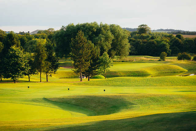 A sunny day view from The Nottinghamshire Golf & Country Club