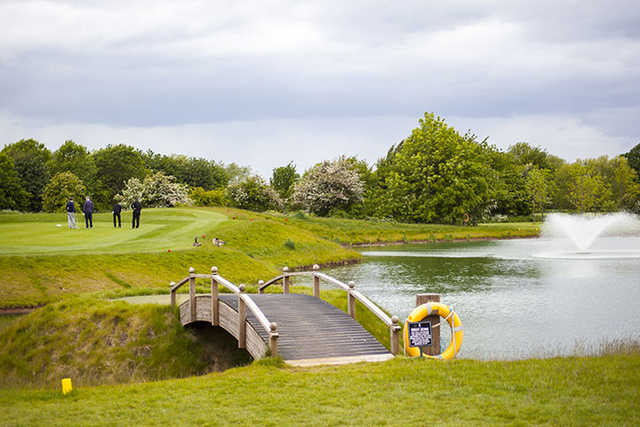 A view over the water from The Nottinghamshire Golf & Country Club