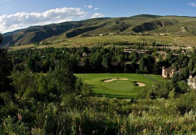 A view of green #10 at EagleVail Golf Club.