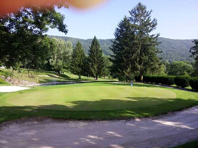 A view of the practice area at Bluefield Elks Country Club