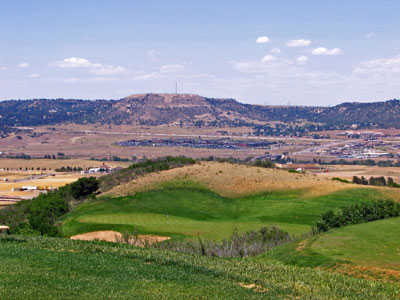 A view of the 14th green at Red Hawk Ridge