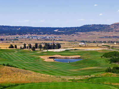A view of hole #18 at Red Hawk Ridge
