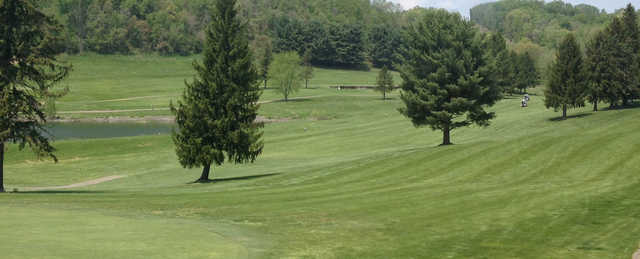 A view of a fairway at Mountaineer's Woodview Golf Course