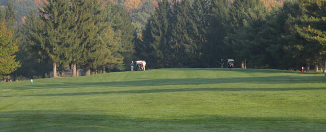 A view from Mountaineer's Woodview Golf Course