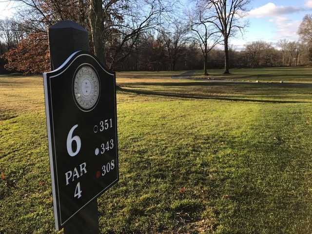 A view from tee #6 sign at East Orange Golf Course (Patrick Maas)