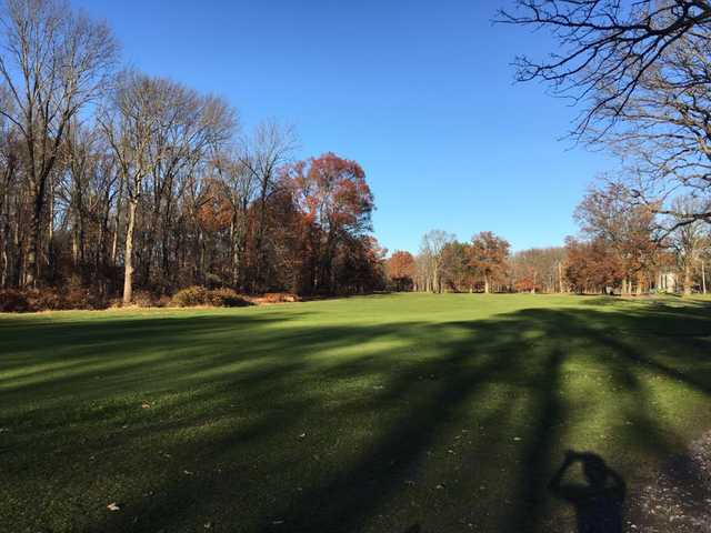 A fall day view from a fairway at East Orange Golf Course (Clara Hollin)