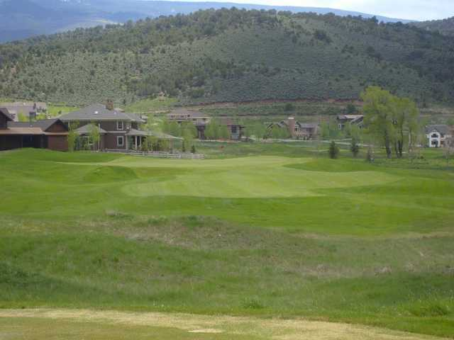 A view of the 8th green at Eagle Ranch Golf Club