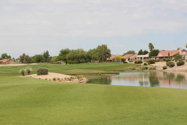 View of the 16th hole from the Trail Ridge Golf Course at Sun City West