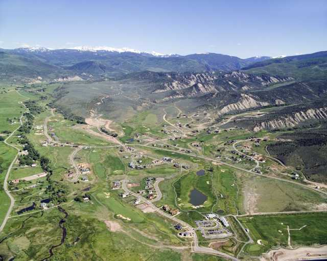 Aerial view from Eagle Ranch Golf Club