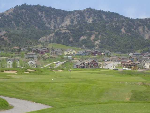 A view of hole #17 at Eagle Ranch Golf Club