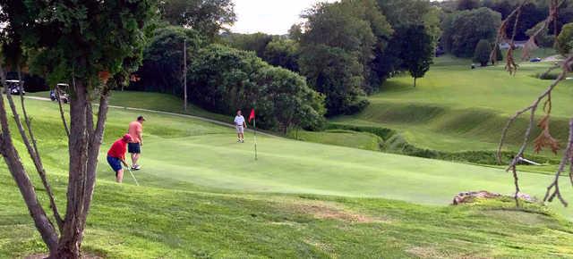 A view of a green at Quail Run Golf Links