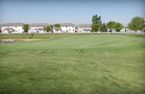 A view of the 10th green at Coyote Creek Golf Course