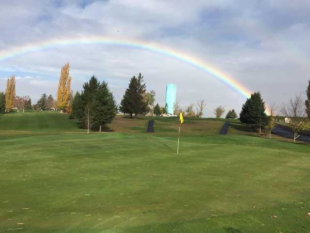 A view of a green at Ritzville Golf Course