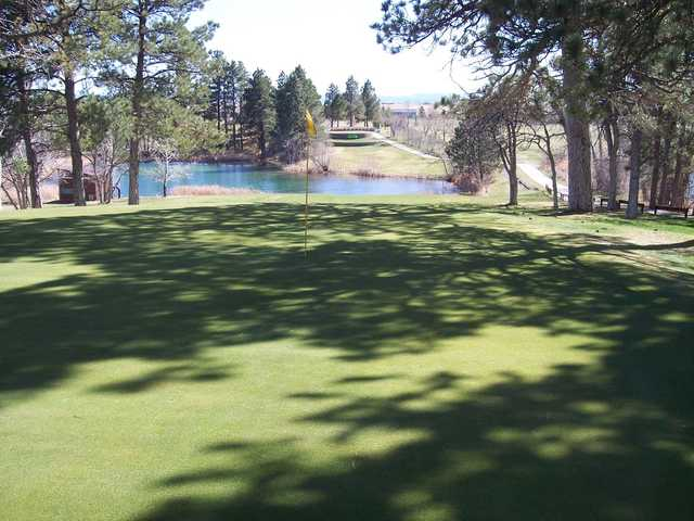 A view of a hole at Belle Fourche Country Club