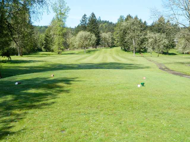 A view from tee #2 at Pineway Golf Club