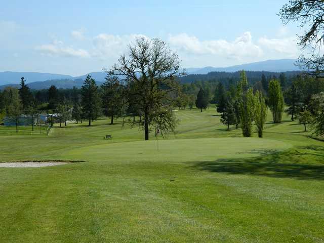 A view of green #4 at Pineway Golf Club