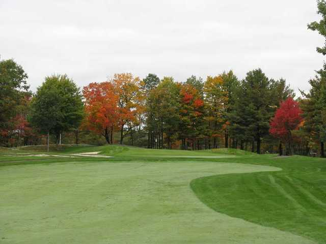 A fall day view from a fairway at Casperkill Golf Club
