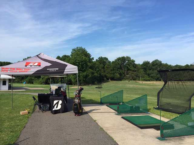 A view of the driving range at Rutgers University Golf Course