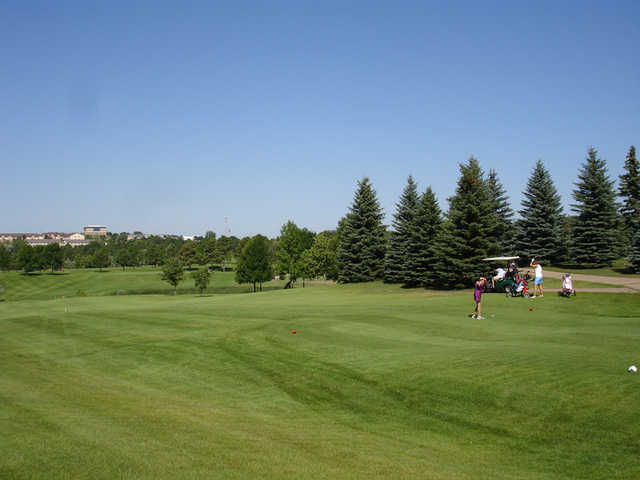 A view of a tee at Tom O'Leary Golf Club