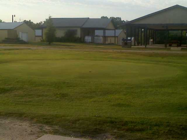 A view of the practice area at Mountain View Golf Course